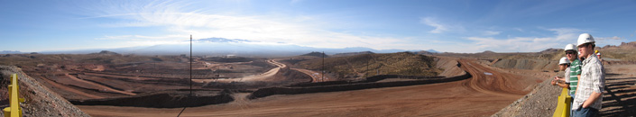 panoramic view of mine site