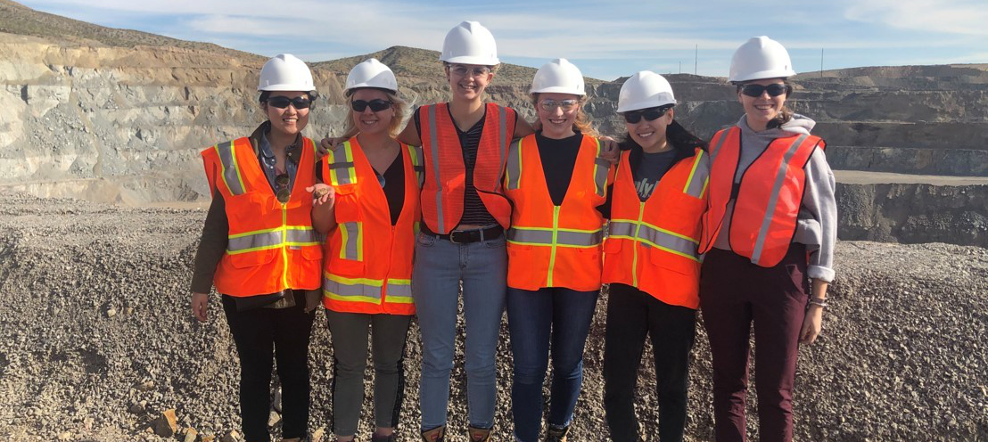 Students on in Arizona at a Mine site.